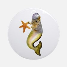 Mermaid Squirrel Ornament (Round)