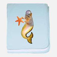 Mermaid Squirrel baby blanket