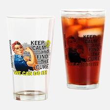 Rosie Keep Calm Sarcoma Drinking Glass