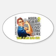 Rosie Keep Calm Sarcoma Sticker (Oval)