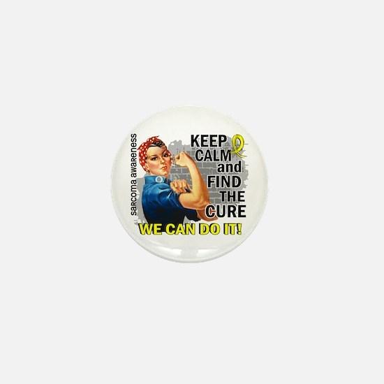 Rosie Keep Calm Sarcoma Mini Button (10 pack)