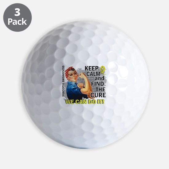 Rosie Keep Calm Sarcoma Golf Ball