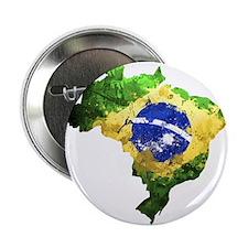 "Brazil Flag Graffiti 2.25"" Button"