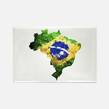 Brazil Flag Graffiti Rectangle Magnet