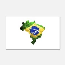 Brazil Flag Graffiti Car Magnet 20 x 12