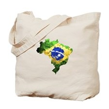 Brazil Flag Graffiti Tote Bag
