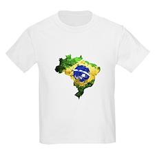 Brazil Flag Graffiti T-Shirt