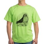Chinese Owl Pigeon Green T-Shirt