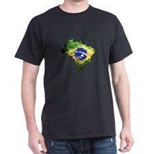 Brazil Flag Graffiti T-Shirt