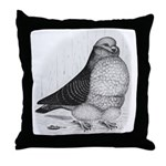 Chinese Owl Pigeon Throw Pillow