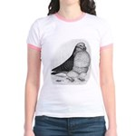 Chinese Owl Pigeon Jr. Ringer T-Shirt