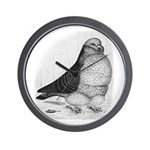 Chinese Owl Pigeon Wall Clock