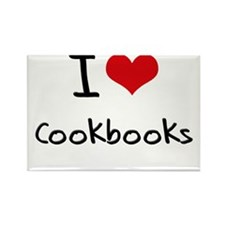 I love Cookbooks Rectangle Magnet