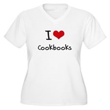 I love Cookbooks Plus Size T-Shirt