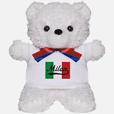 Italian Flag Milan Teddy Bear