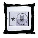 Texas K9 Narc Throw Pillow