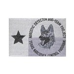 Texas K9 Narc Rectangle Magnet (100 pack)