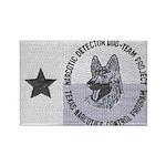 Texas K9 Narc Rectangle Magnet (10 pack)