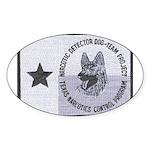 Texas K9 Narc Oval Sticker