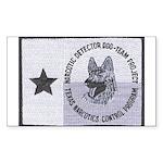 Texas K9 Narc Rectangle Sticker