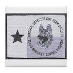 Texas K9 Narc Tile Coaster