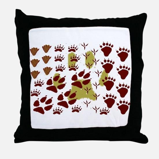 Animal Tracks Throw Pillow