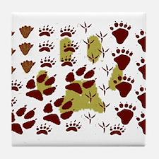 Animal Tracks Tile Coaster