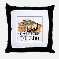 Calle de Toledo, Madrid - Spain Throw Pillow