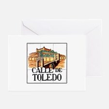 Calle de Toledo, Madrid - Spain Greeting Cards (Pa