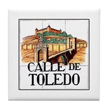 Calle de Toledo, Madrid - Spain Tile Coaster
