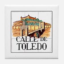Calle de Toledo, Madrid - Spain Tile Coaster