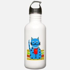 Whimsical Cat Water Bottle