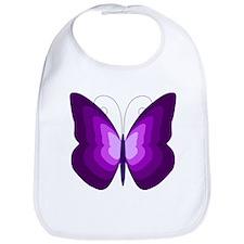 Purple Butterfly Bib