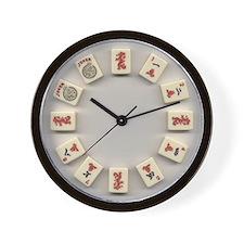 Mah Jongg Crak Wall Clock