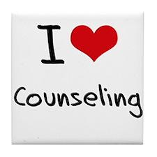 I love Counseling Tile Coaster
