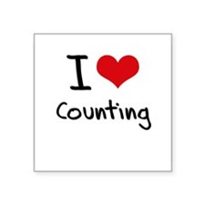 I love Counting Sticker