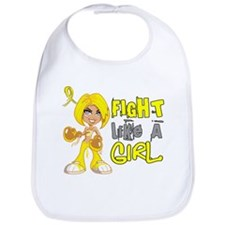 Fights Like a Girl 42.8 Sarcoma Bib