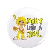 "Fights Like a Girl 42.8 Sarcoma 3.5"" Button"