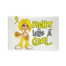 Fights Like a Girl 42.8 Sarcoma Rectangle Magnet