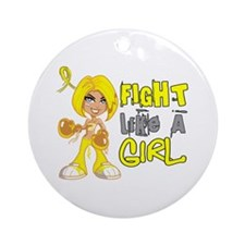 Fights Like a Girl 42.8 Sarcoma Ornament (Round)