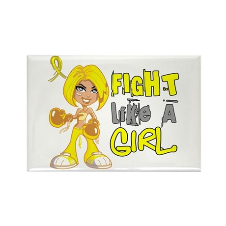 Fights Like a Girl 42.8 Sarcoma Rectangle Magnet (