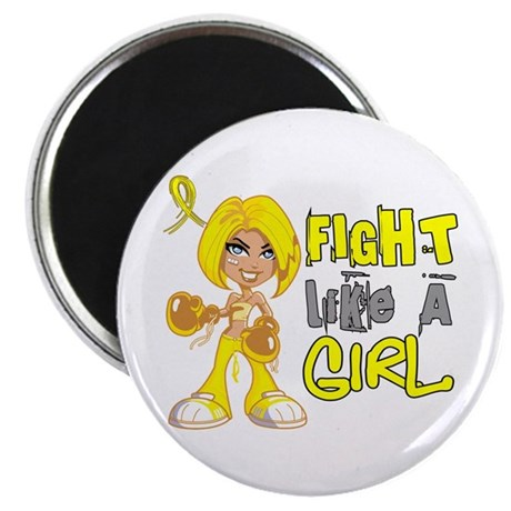 """Fights Like a Girl 42.8 Sarcoma 2.25"""" Magnet (10 p"""