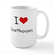 I love Courthouses Mug