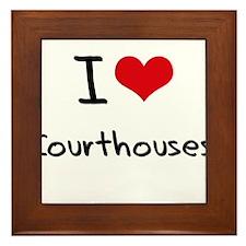 I love Courthouses Framed Tile