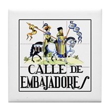 Calle de Embajadores, Madrid - Spain Tile Coaster