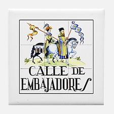 Calle de Embajadores, Madrid - Spain Tile Coaster