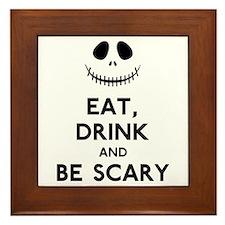 Halloween Humor Framed Tile
