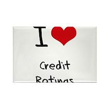 I love Credit Ratings Rectangle Magnet