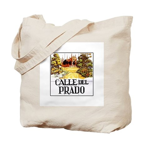 Calle del prado madrid spain tote bag by worldofsigns for Calle del prado 9 madrid espana