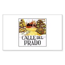 Calle del Prado, Madrid - Spain Sticker (Rectangul